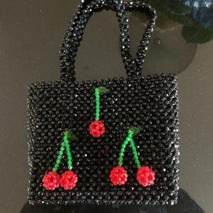 My Cherry 🍒 Beaded Bag NWT